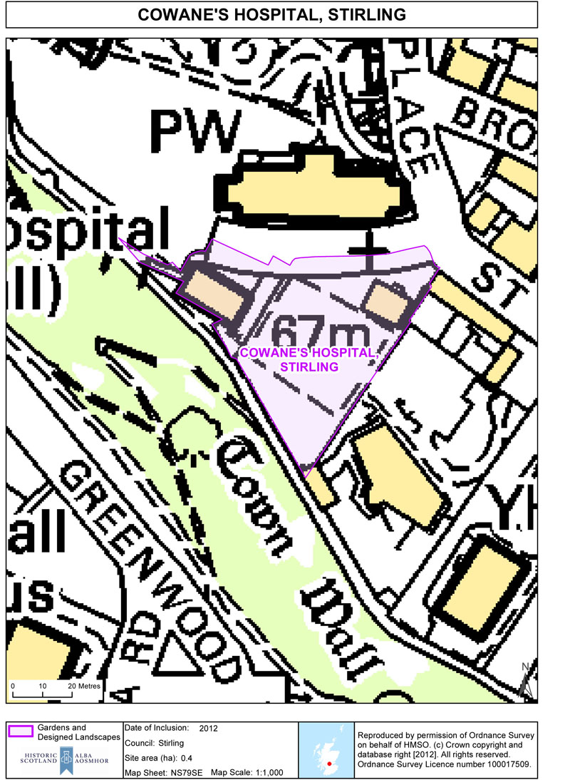 Map of COWANE'S HOSPITAL